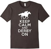 """Derby T-Shirt """"Keep Calm and Derby on"""" Horse Race Tee"""