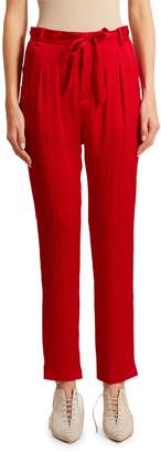 Roland Mouret Biltmore Hammered Silk Trousers