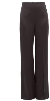 Joseph Devyn Silk Satin Wide Leg Trousers - Womens - Black