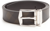 Burberry James House-check leather belt