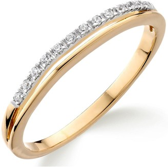 Love Diamond 9ct Gold Diamond Set Wedding Band