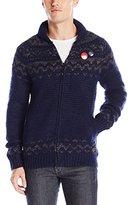 Scotch & Soda Men's Zip-Thru Cardigan in Chunky Slub Yarn Knit