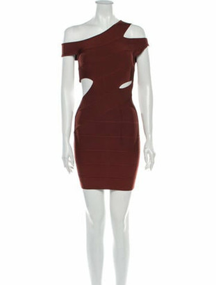 Herve Leger 2020 Mini Dress Brown