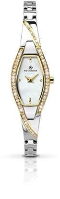 Accurist Women's Quartz Watch with Mother of Pearl Dial Analogue Display and Two Tone Bracelet 8028.01