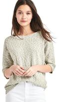 Boucle dolman sleeve sweater