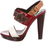 Barbara Bui Patent Leather Sandals