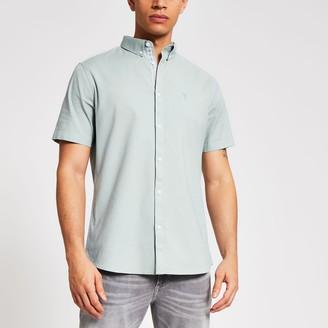 River Island Mens Maison Riviera Green Oxford shirt