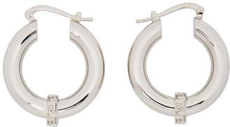 Versace Silver Small Greca Hoop Earrings