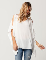 Full Tilt Gauze Womens Poncho Top