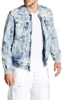 True Religion Acid Washed Denim Jacket