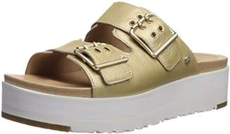 UGG Women's Cammie Metallic Wedge Sandal