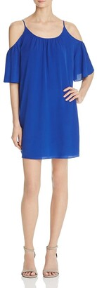 French Connection Women's Polly Plains Cold Shoulder Dress