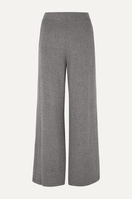 Leset Lori Brushed Stretch-knit Wide-leg Pants - Gray