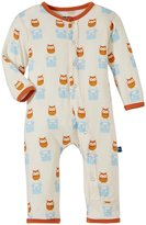 Kickee Pants Print Coverall (Baby) - Natural Radio Owl-0-3 Months