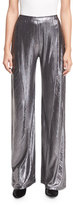 Opening Ceremony Luminous Wide-Leg Lamé; Pants, Silver