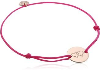 Thomas Sabo Women-Bracelet Little Secrets 925 Sterling silver 18k rose gold plating pink LS007-597-9-L20v
