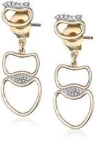 Fiorelli Gold Yellow Gold Open Organic Earrings