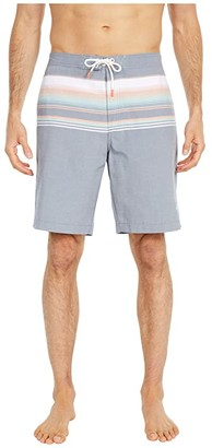 Tommy Bahama Baja Sanders Beach Stripe Swim Trunks (Ocean Deep) Men's Swimwear