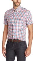 Ben Sherman Men's Short Sleeve House Gingham Button Down Shirt