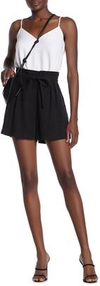 BCBGMAXAZRIA Waist Tie Shorts