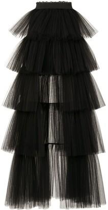 ZUHAIR MURAD High-Low Tulle Skirt