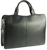 Visconti Black Structured Leather Briefcase