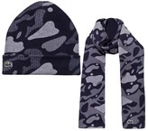 Lacoste Camo Hat and Scarf Set