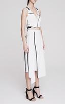 Josh Goot Fluid Suiting Wrap Column Skirt