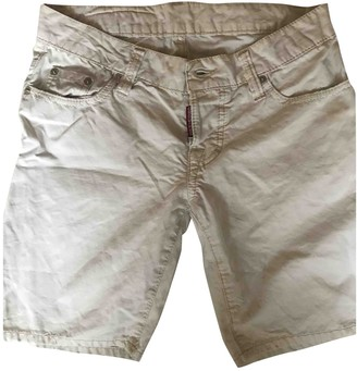 DSQUARED2 White Denim - Jeans Shorts
