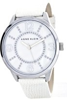 Anne Klein Women's Mother of Pearl Dial Leather Band AK/1767MPWT
