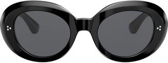 Oliver Peoples Erissa round oversized sunglasses