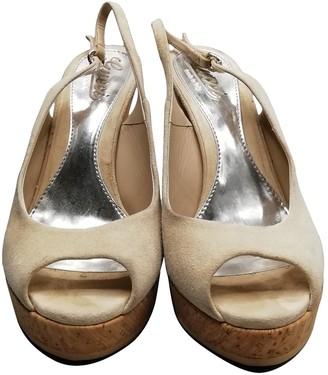 Gucci Beige Suede Sandals