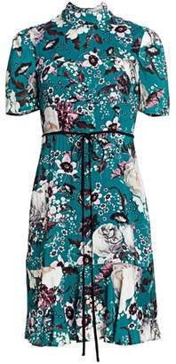 Erdem Anne Floral Flounce Hem Dress