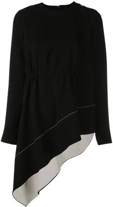 Proenza Schouler Asymmetrical Draped Long Sleeve Top