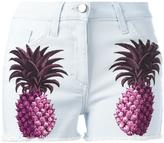 Giamba pineapple shorts - women - Cotton/Leather/Spandex/Elastane - 40