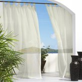 Outdoor Decor Escape Voile 54 by 84-Inch Velcro Tab Panel, Ivory