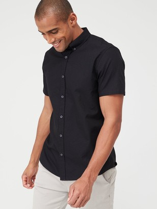 Very Short Sleeved Button Down Oxford Shirt