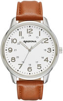 Arizona Mens Brown Strap Watch-Fmdarz531