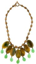 Stephen Dweck Agate, Turquoise & Coral Necklace
