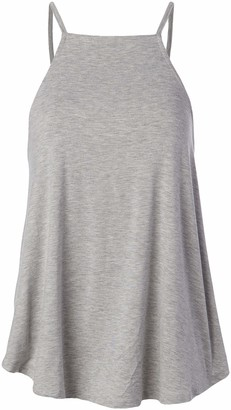 LIRA Women's Solid High Neck Super Soft Tank Top