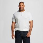 Merona Men's Big & Tall Striped Short Sleeve Henley Shirt Green
