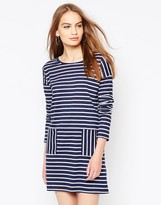 Daisy Street Shift Dress In Stripe