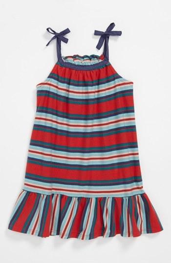 Tea Collection 'Venda' Trapeze Dress (Little Girls) Red Pepper 10