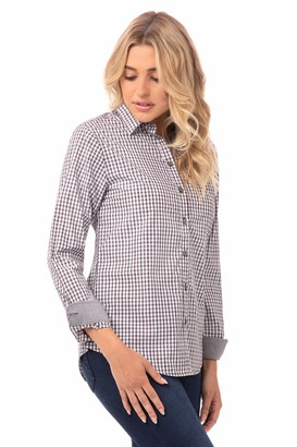 Chef Works Women's Modern Gingham Long Sleeve Dress Shirt