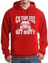 TeeStars - Go Topless Get Dirty - Off Roading Novelty Hoodie