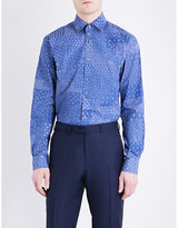 Duchamp Patchwork Sketch Tailored-fit Cotton Shirt