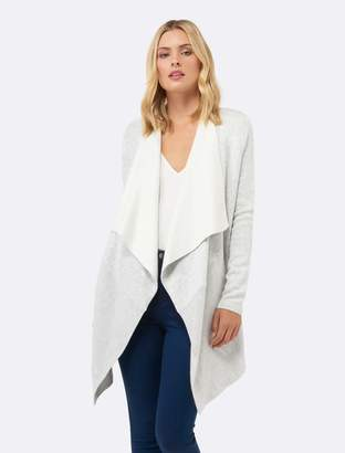 Ever New Kate Ribbed Hem Fallaway Cardigan
