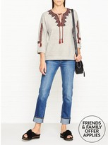 Whistles Embroidered Open Neck Sweatshirt