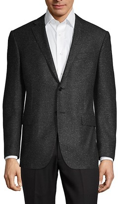 Corneliani Classic-Fit Wool Silk Donegal Tweed Suit Jacket