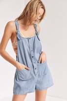 BDG Andy Button-Front Tie-Strap Shortall